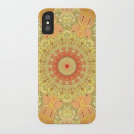 Summer Sparkling Gold Mandala iPhone Case