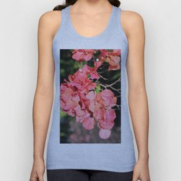 Hot Coral Floral Unisex Tank Top