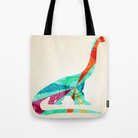 dinosaur Tote Bags featuring dinosaur by Emmy Winstead