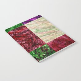Patchwork color gradient and texture 2 Notebook