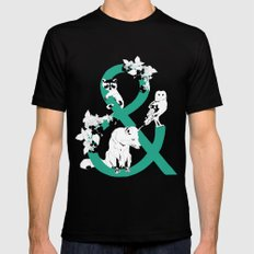 & then.... Mens Fitted Tee Black MEDIUM