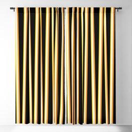 Between the Trees - Black, Orange & Yellow #557 Blackout Curtain