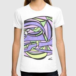 Pastel Party Play Graffiti Style Abstract Drawing T-shirt