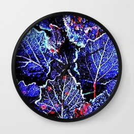 Rime Leaves Abstract Wall Clock
