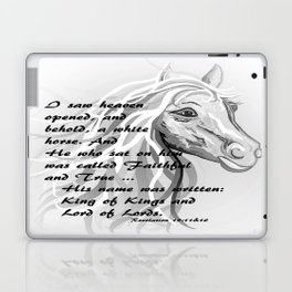White Horse of a King Laptop & iPad Skin
