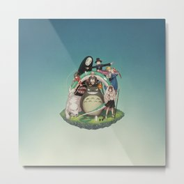 Ghibli: Bliss in Light Metal Print