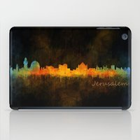 islam iPad Cases featuring Jerusalem City Skyline Hq v4 by HQPhoto