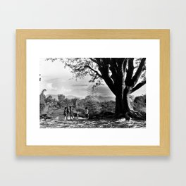 Vietnamese Kids of Central Highland Framed Art Print
