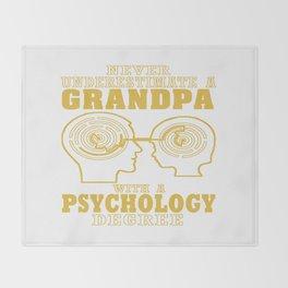 Psychology Grandpa Throw Blanket