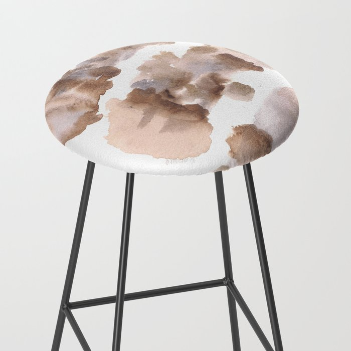 Watercolor Texture Movement Grief Fragmented Bar Stool