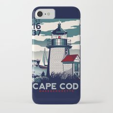 CAPE COD  Massachusetts Light House Retro Vintage nautical cape cod iPhone 7 Slim Case