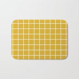 Minimalism Window Pane Grid, Mustard Yellow Bath Mat