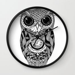 Owl of Time Wall Clock