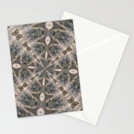 Water Splatter Kaleidoscope Stationery Cards