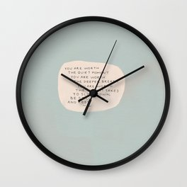 Be Still And Rest. Wall Clock