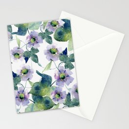 Purple Flowers 2 Stationery Cards