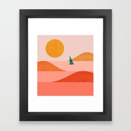Abstraction_Sailing_Ocean_002 Framed Art Print