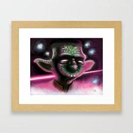 Franken-Yoda Framed Art Print