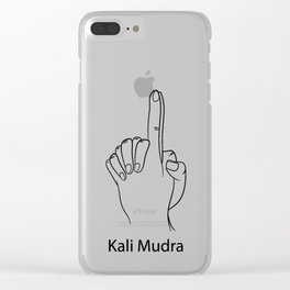 Kali Mudra Yoga Gift Clear iPhone Case