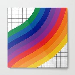 Rainbow Grid Metal Print