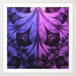 Beautiful Blue and Lilac-Violet Starling Feathers Art Print