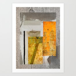 THE FACE BEHIND THE WINDOW Art Print