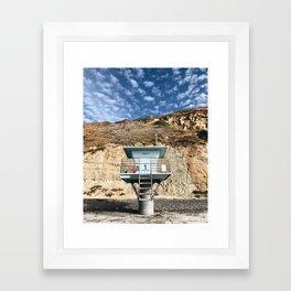 Beach Hut / Torrey Pines Framed Art Print