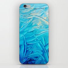 WATER FLOWERS - Beautiful Water Ocean Theme Shades Blue Floral Modern Design Abstract Painting iPhone & iPod Skin
