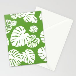 Multicolor Tropical Leaves 4 Stationery Cards