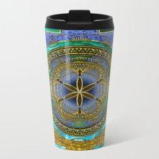 Yantra Mantra Mandala #1 Metal Travel Mug
