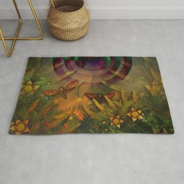 """""""A Psychedelic Forest"""" Rug"""
