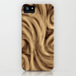 bohemian burnt sienna swirl pattern iPhone Case