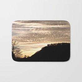Sunset Silhouette - Mt. Sugarloaf, Sunderland MA Bath Mat