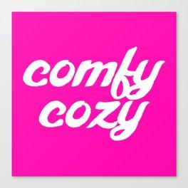 comfy cozy Canvas Print