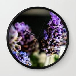 Peaceful Lavender Wall Clock
