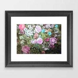Happy Floral Framed Art Print