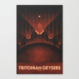 Triton - Tritonian Geysers Canvas Print