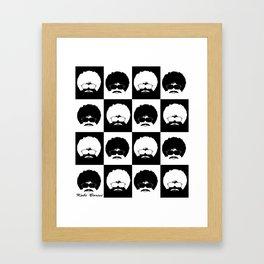 pop art black Framed Art Print
