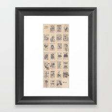 The Dead Alphabet Framed Art Print