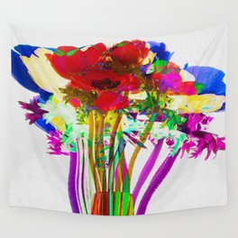 Belle Anemoni or Beautiful Anemones Wall Tapestry