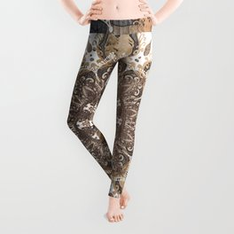 Grace Mandala Wood Leggings