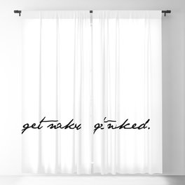 Get Naked. Black on White Blackout Curtain