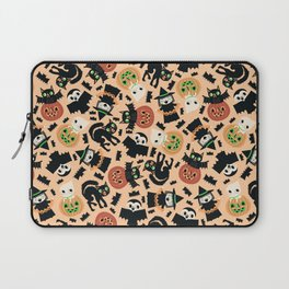 Halloween Gang Pale Orange Laptop Sleeve