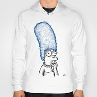 simpson Hoodies featuring Marge Simpson by Axpirine
