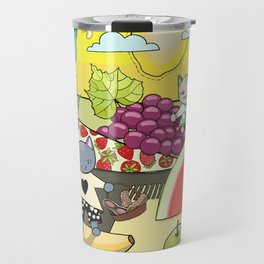 Cats in the Land of Fruits and Nuts Travel Mug