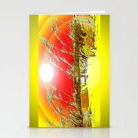 dune Stationery Cards featuring Sun  Dune by JT Digital Art
