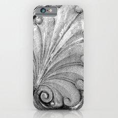 Black and White filigree iPhone 6s Slim Case
