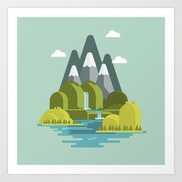The nice valley Art Print