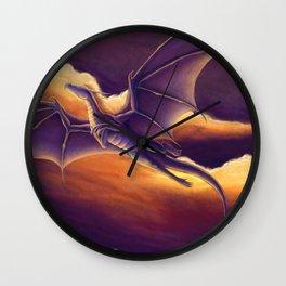 Sunset Dragon Wall Clock