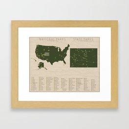 US National Parks - Colorado Framed Art Print